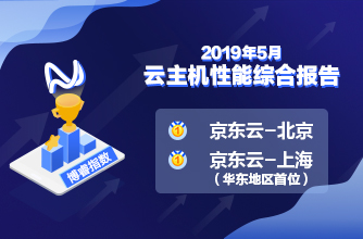 Bonree Index Performance | According to the Performance Evaluation Reports of Virtual Machines of May 2019, Both JD Cloud-Beijing and Shanghai Ranked the First